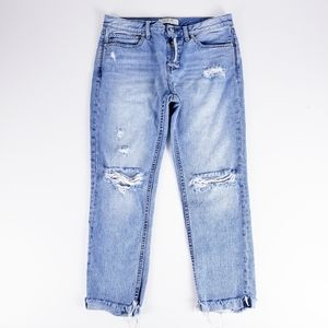 We The Free Distressed Busted Knee Crop Jeans 26